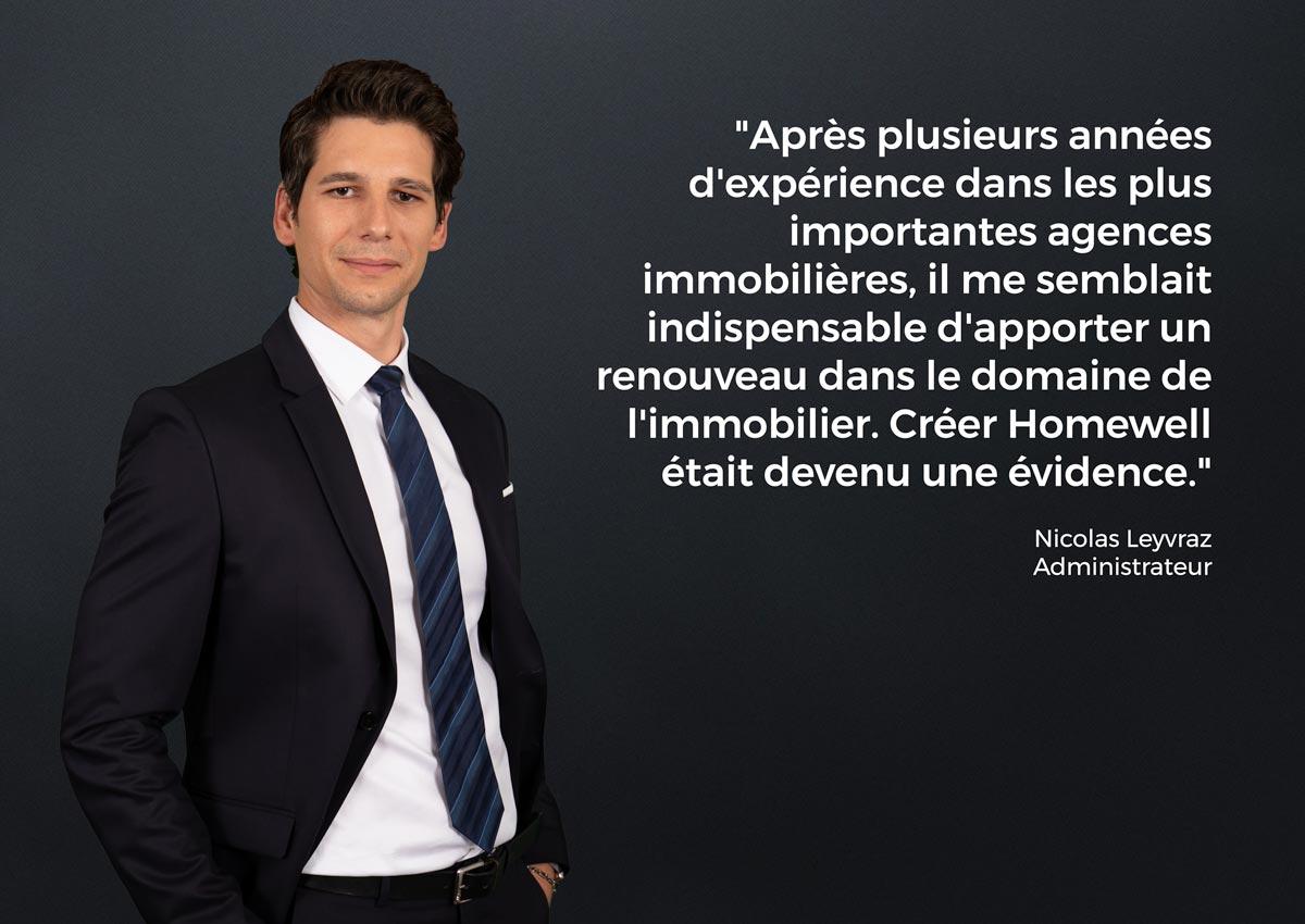 Nicolas Leyvraz Homewell Immobilier Agence Lausanne