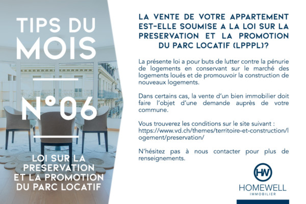 tips du mois appartement louéhomewell immobilier nicolas leyvraz romain louia