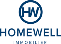 Agence immobilière Lausanne Vaud Homewell Homewell agence immobiliere lausanne morges logo bleu