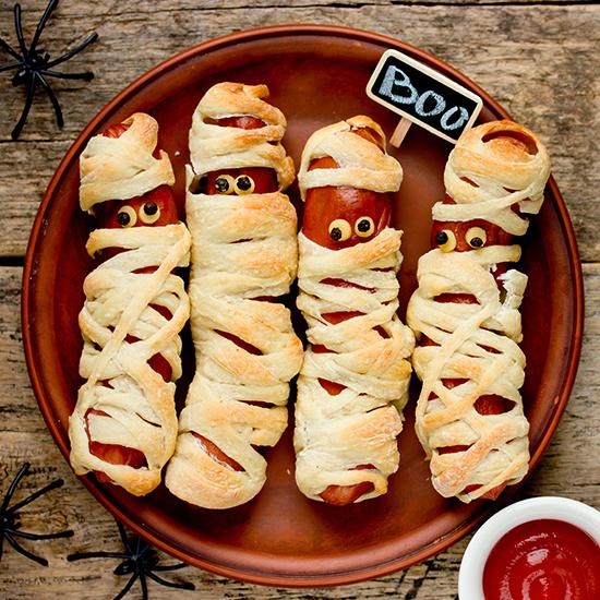 Homewell recette Halloween saucisses